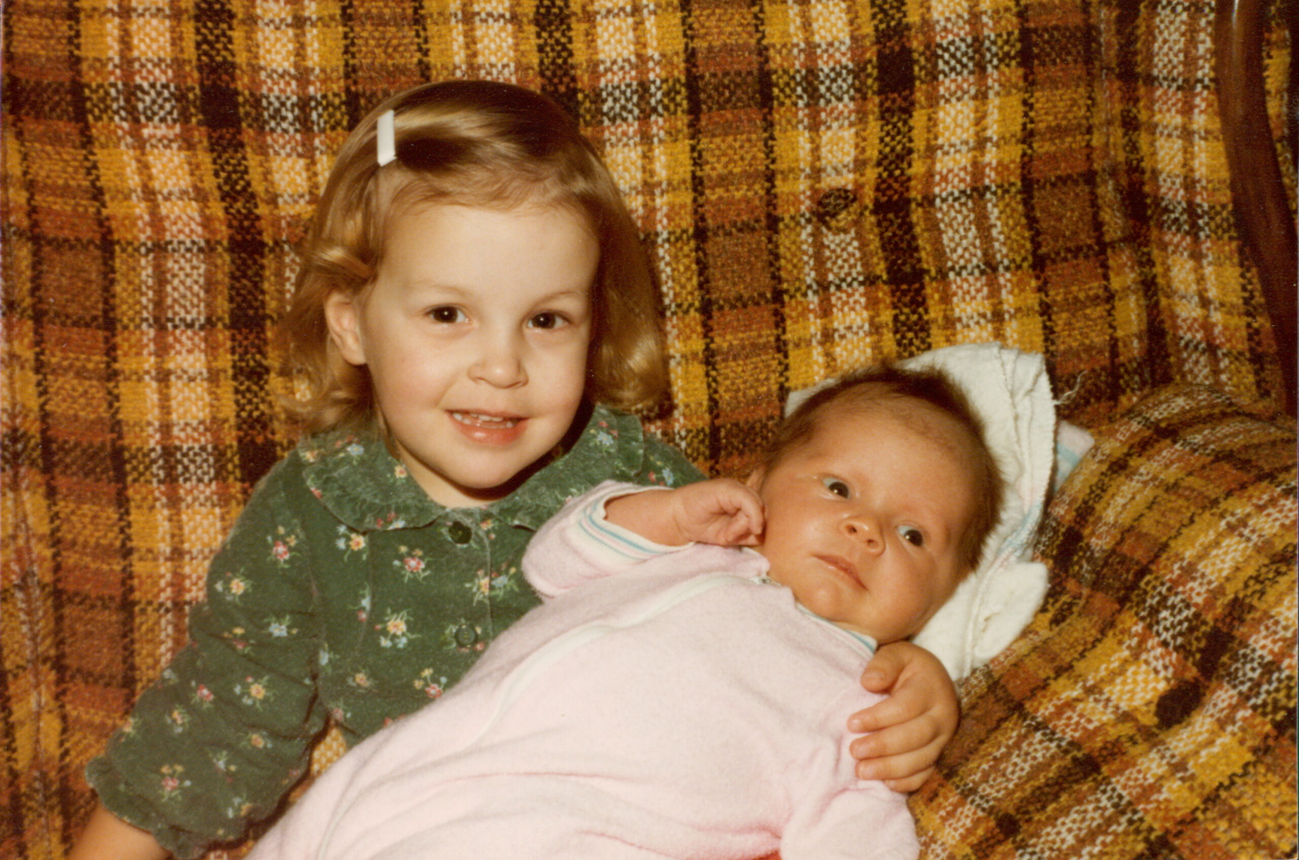 Kristen and her baby sister
