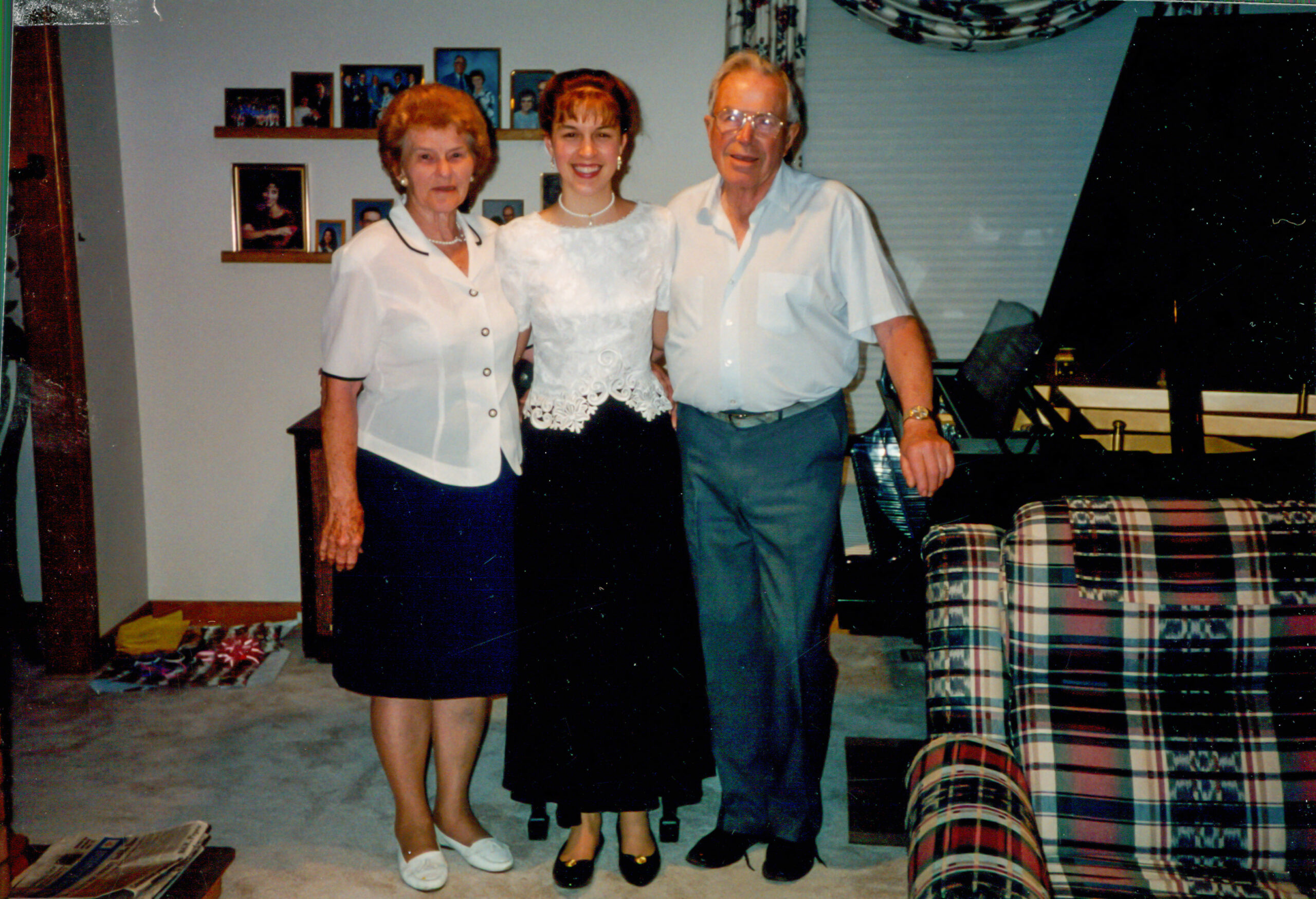 Grandma, Grandpa, and Kristen at her senior graduation