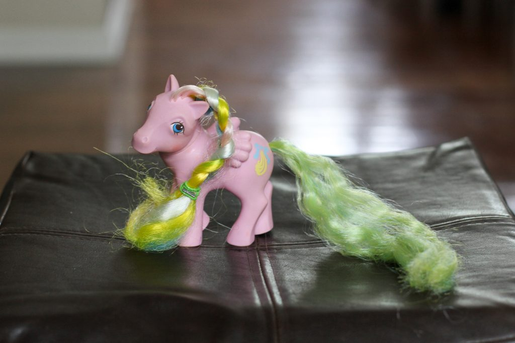 My Little Pony with adjustable tail