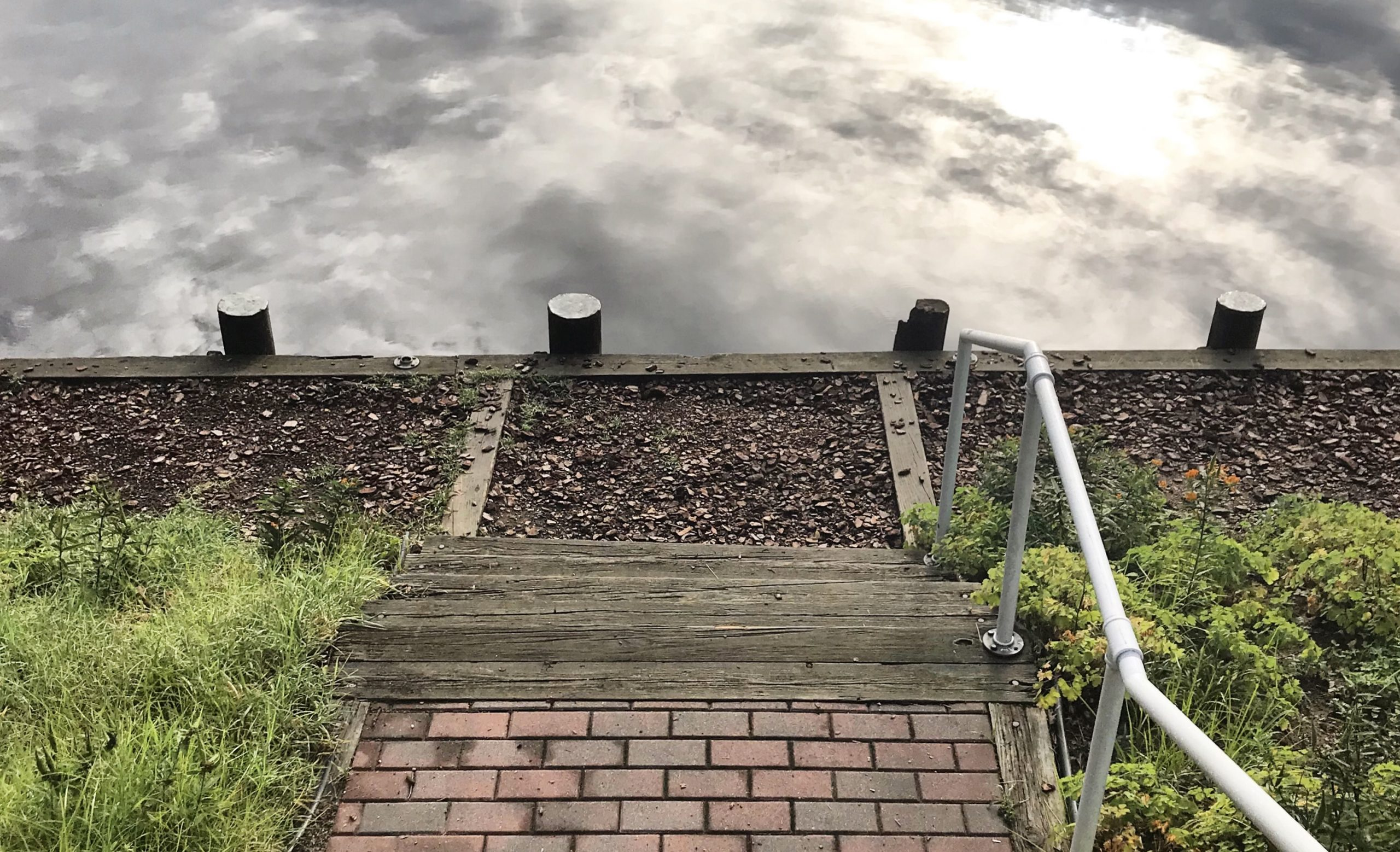 walkway to a river