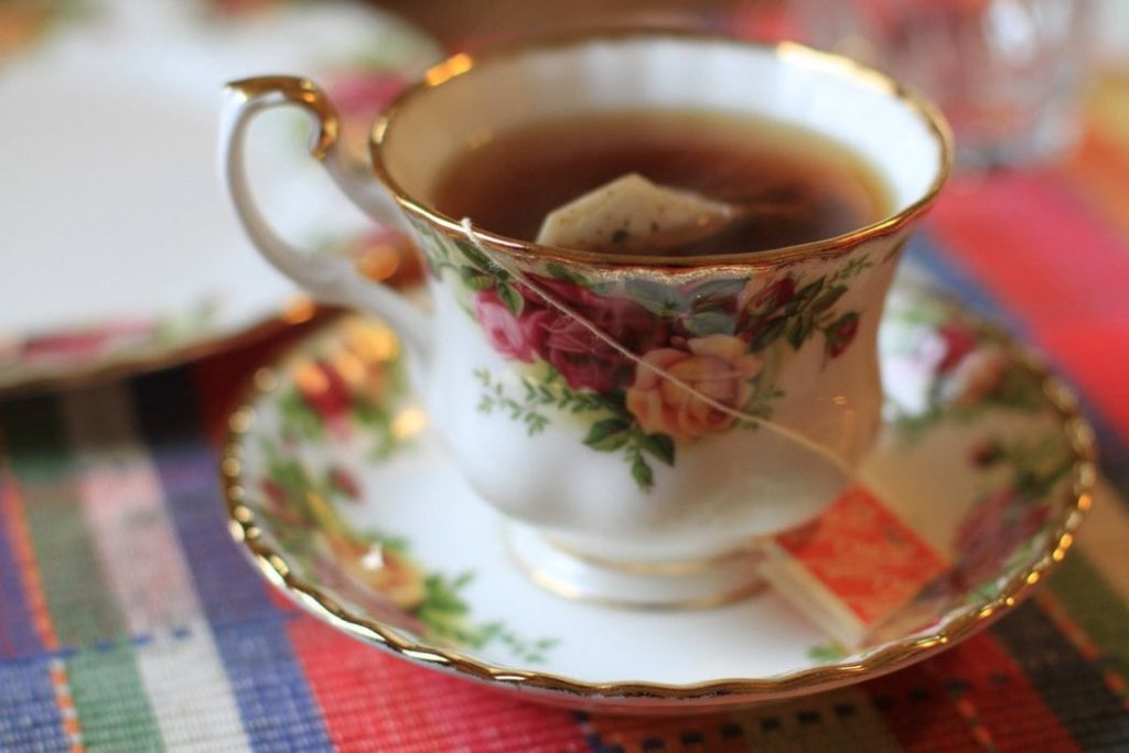 flowered teacup