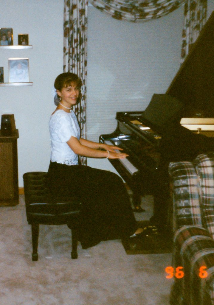 Kristen at the piano