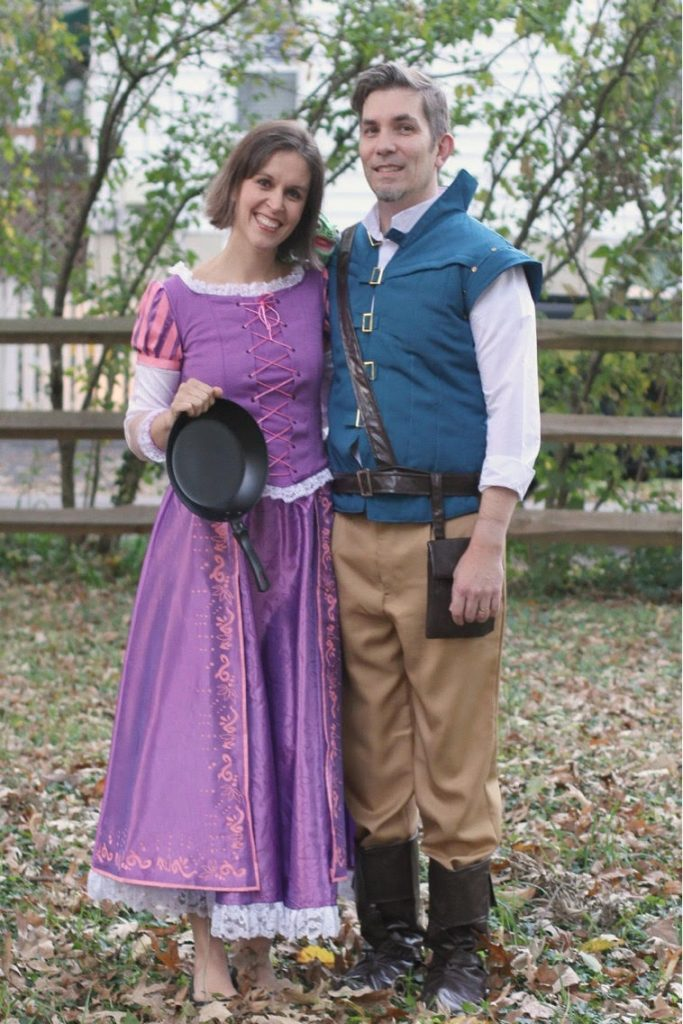 Rapunzle and Flynn Rider costumes