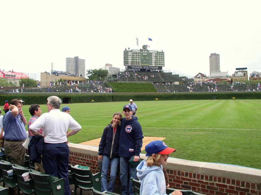 Kristen and Mr. FG at Wrigley Field